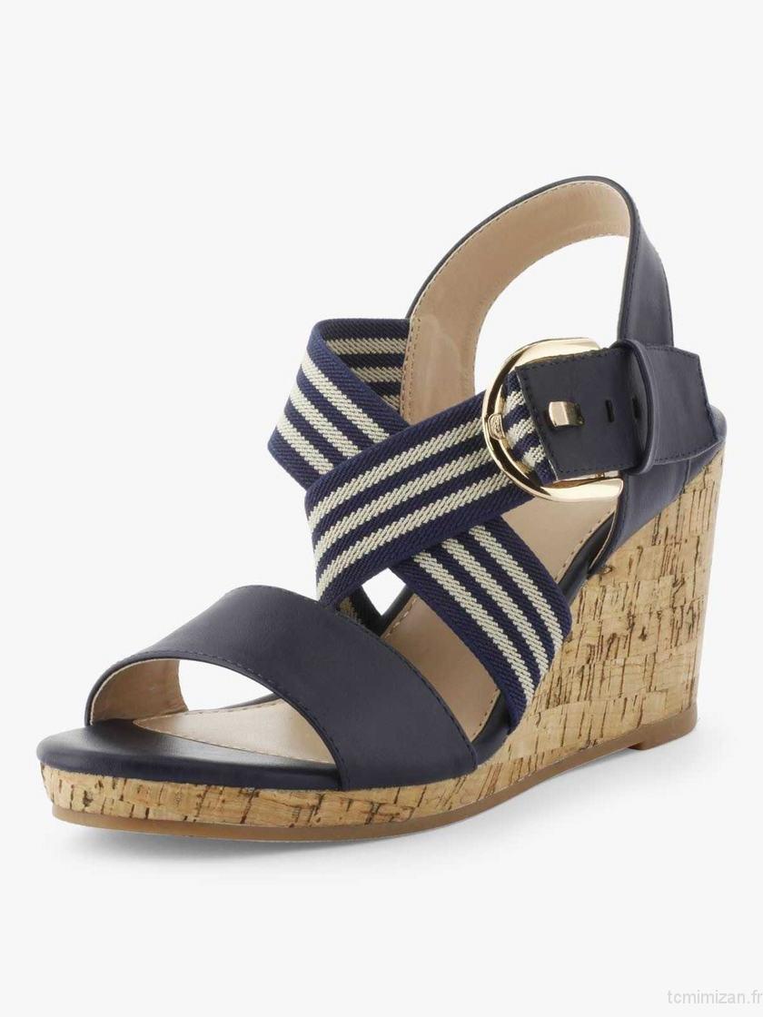 Sandale compensée la halle au chaussure