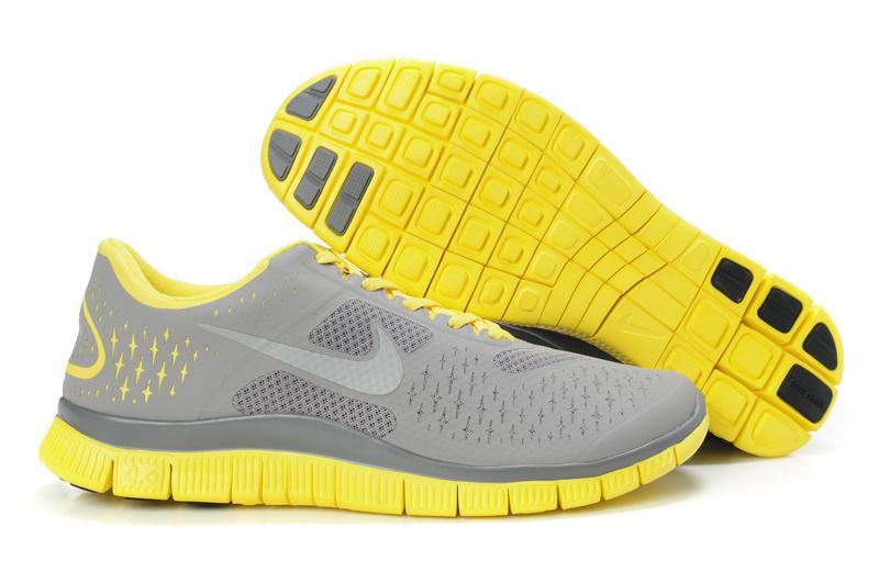 Nike running yellow