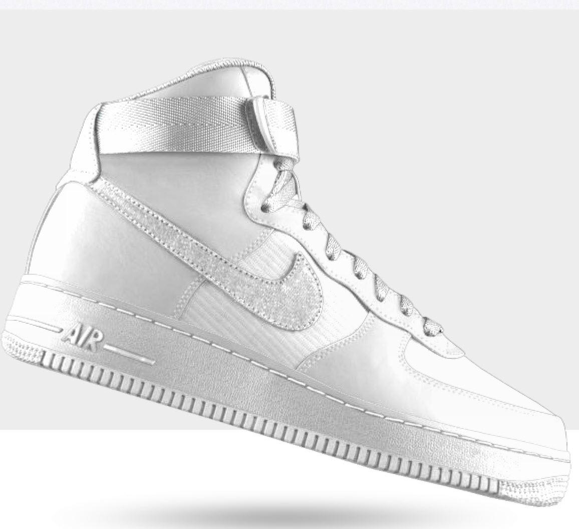 Nike sneakers vector