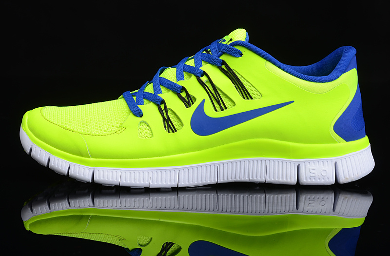 Chaussure de running jaune fluo