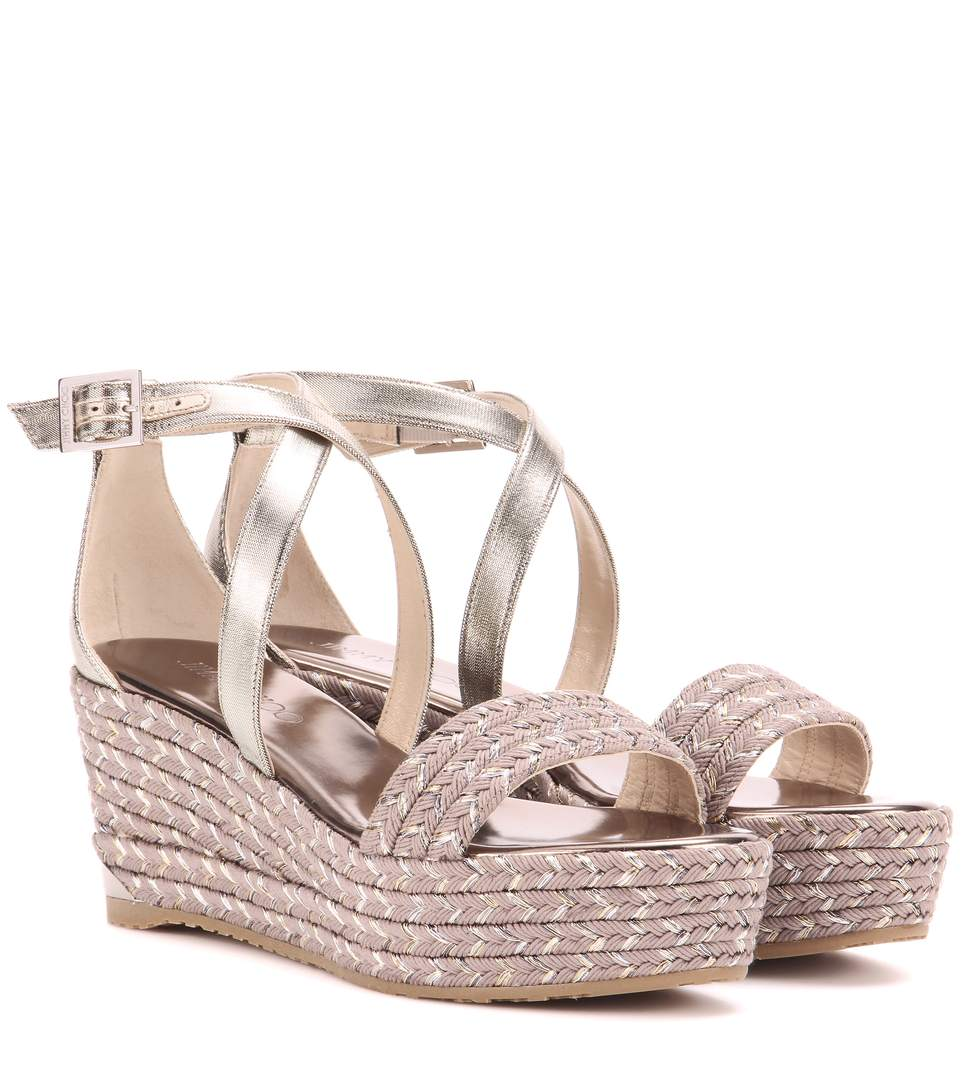 Chaussure compensee jimmy choo