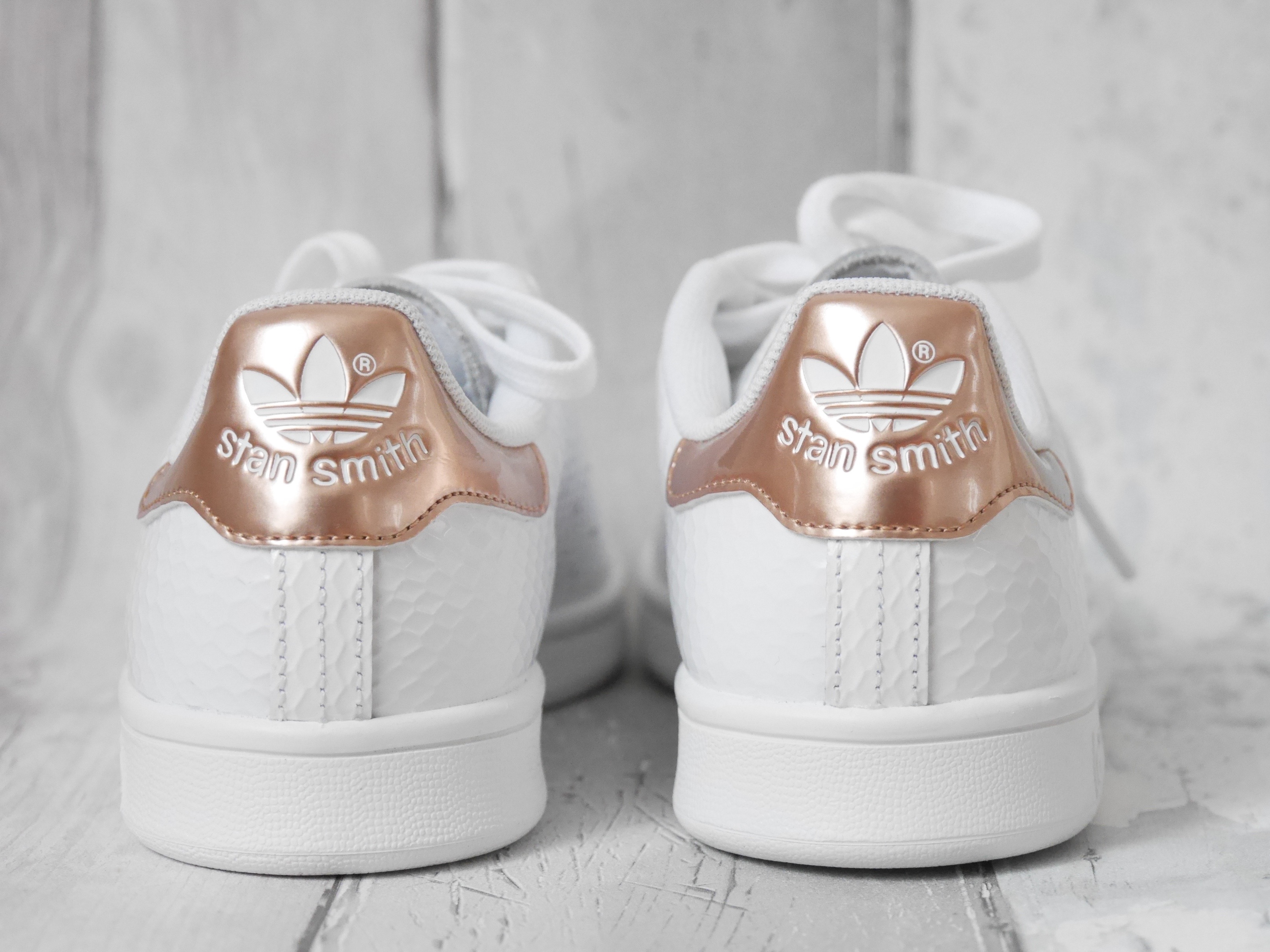 Stan smith femme gloss rose gold