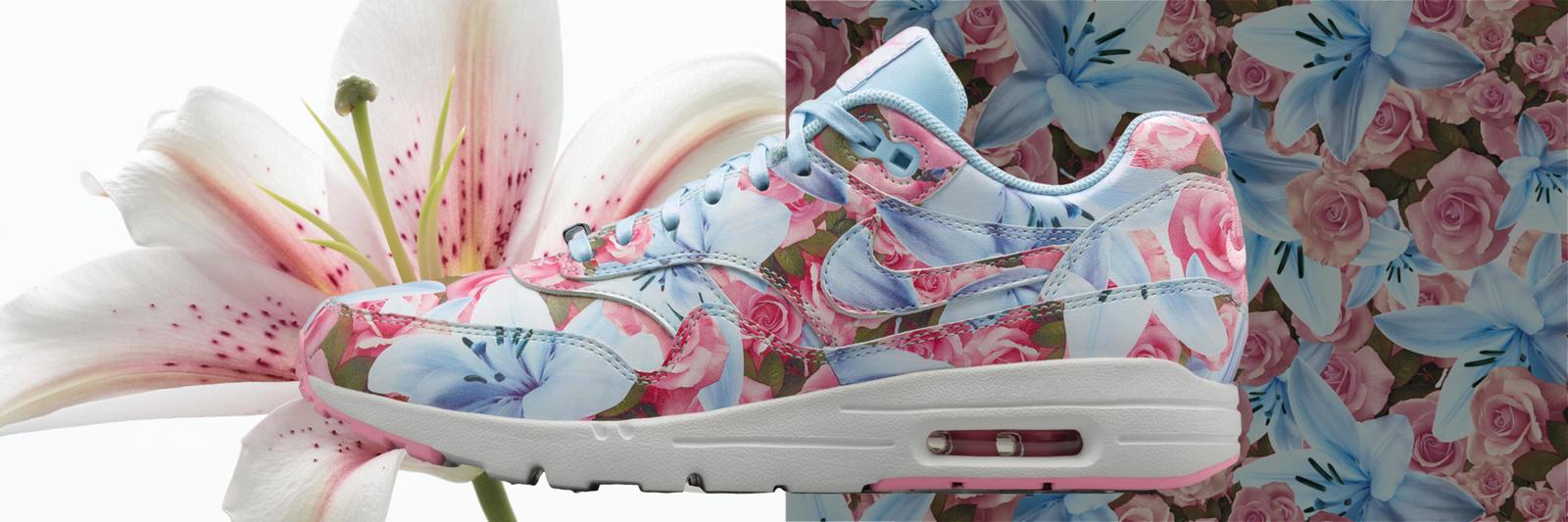 Sneakers nike fleurs