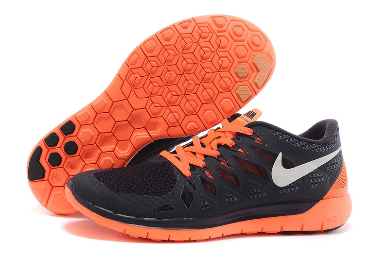 Chaussures running nike free 5.0 homme noir/orange