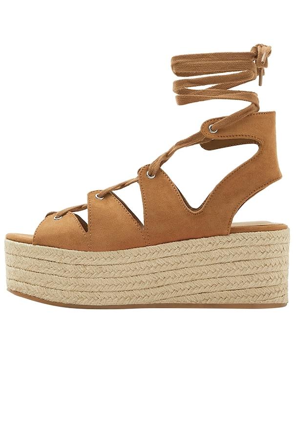Sandale femme marron