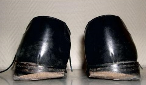 Usure chaussure running interieur talon