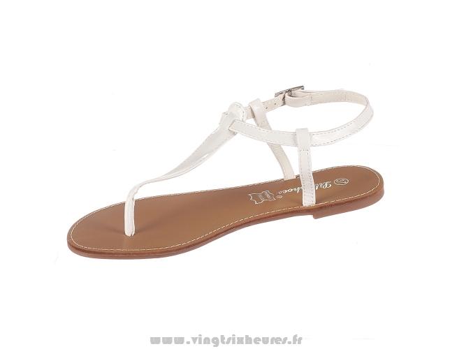 Sandale femme blanche