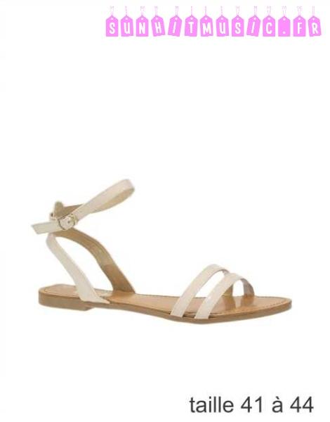 Sandales plates femme grande taille