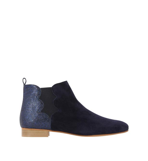 Boots femme bleu marine