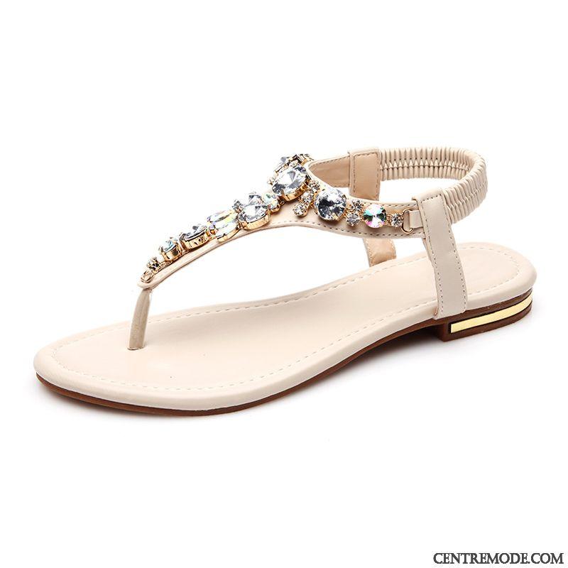 Sandale femme en cuir pas cher