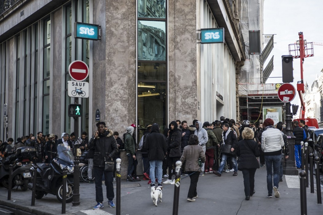 Sneakersnstuff paris rue réaumur paris