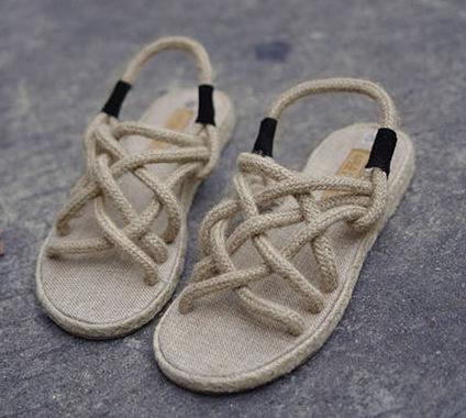 Sandale femme en corde
