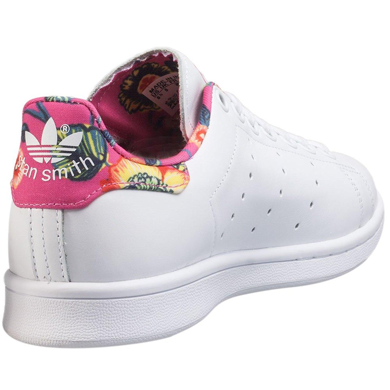 Stan smith femme noir fleur Chaussure lescahiersdalter