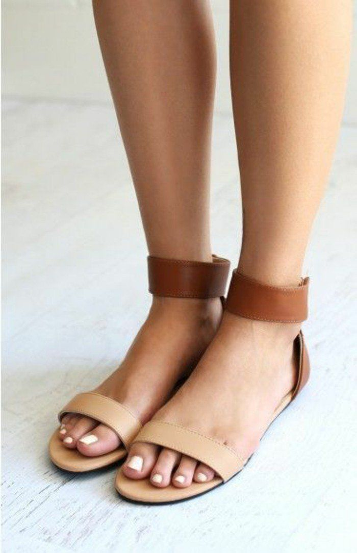 Sandale femme cuir marron