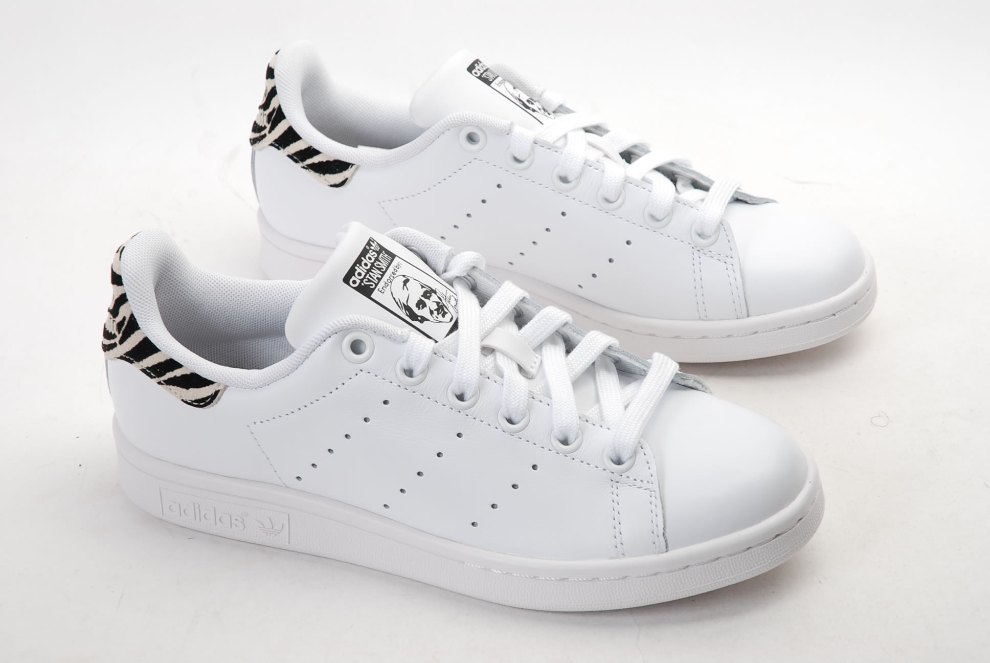 Stan smith femme blanc rouge