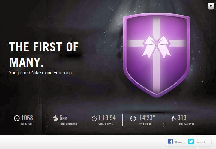 Nike running badges