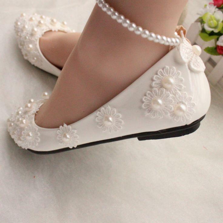 qualité supérieure réputation fiable plus tard Ballerine ivoire fille pour mariage - Chaussure ...