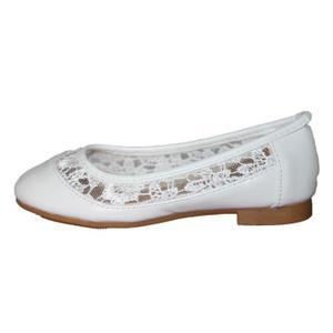 102d36ab20930 Ballerine blanche fillette - Chaussure - lescahiersdalter