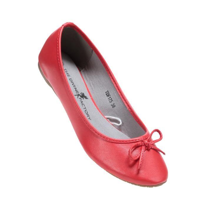 Ballerines femme rouge