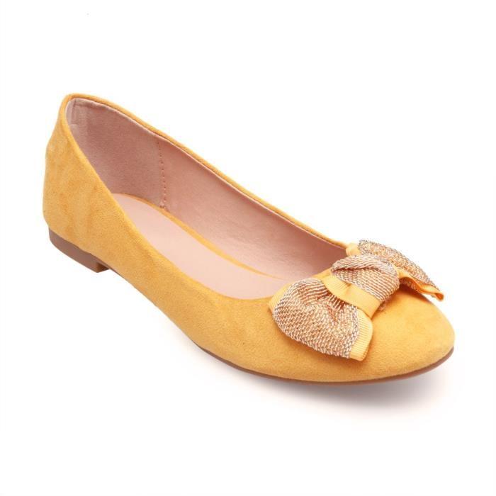 Ballerine jaune moutarde