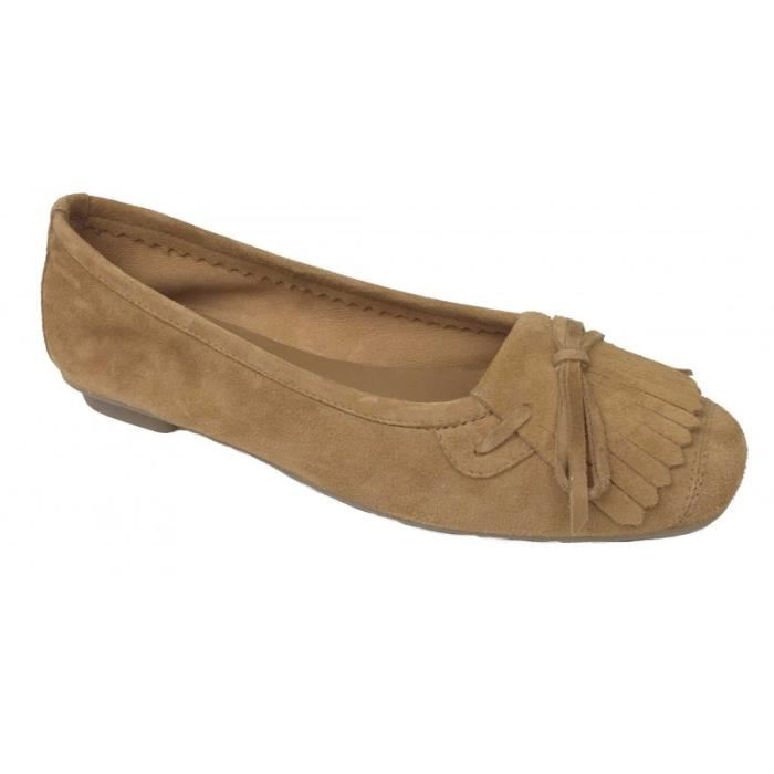 Ballerines reqins marron