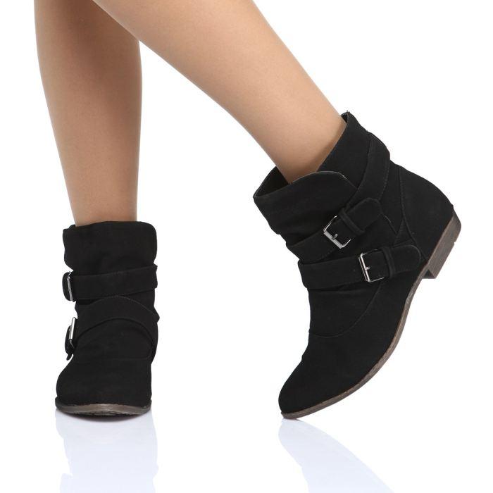 vente chaude en ligne 9b2c4 26e03 Bottine femme sans talon - Chaussure - lescahiersdalter