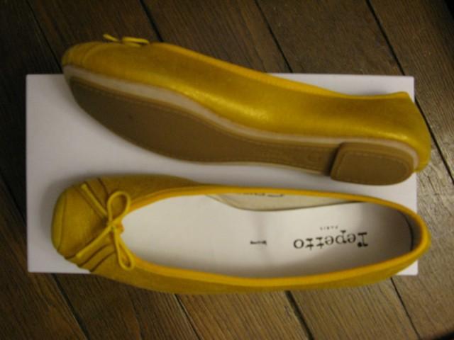 Chaussures repetto jaunes
