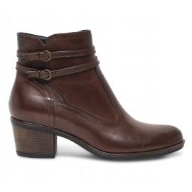Boots marron femme cuir