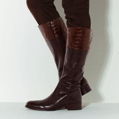 gamme complète d'articles meilleur site conception populaire Bottes en cuir marron pour femme - Chaussure - lescahiersdalter