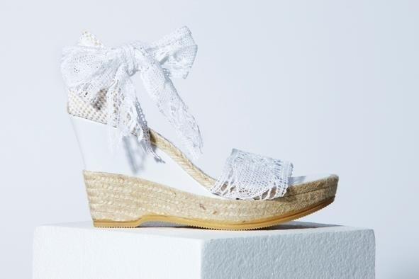 Chaussure compensé de mariage