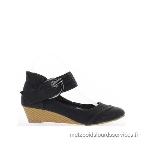 Chaussure compensée a petit talon
