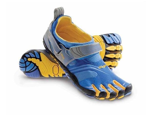 Chaussures de running ultra raptor bleu et jaune
