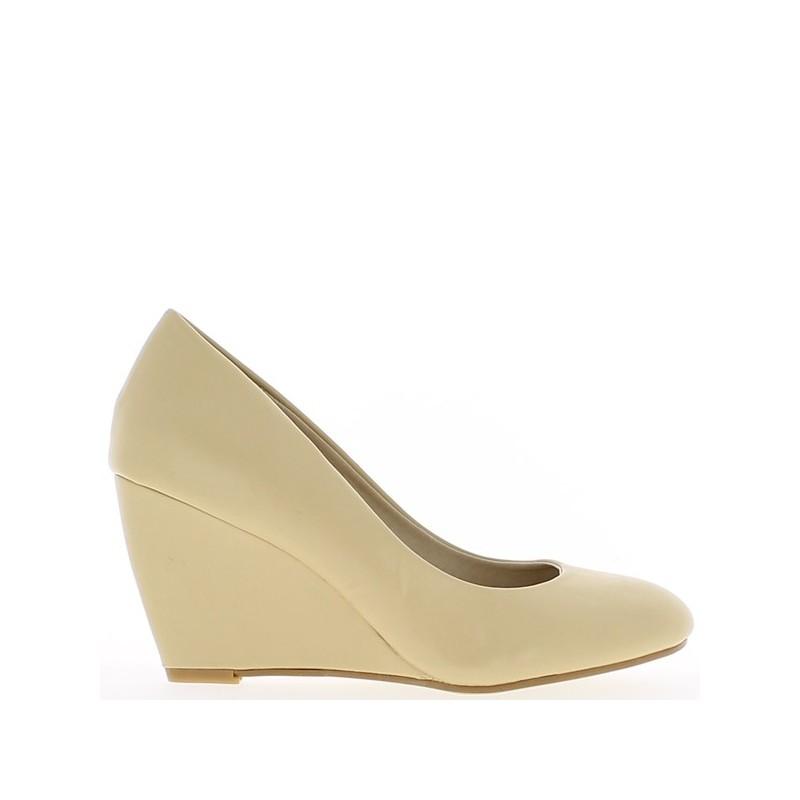 Chaussure compensée beige