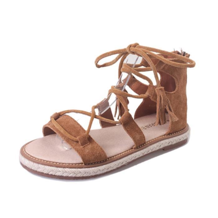 Sandale spartiate femme pas cher
