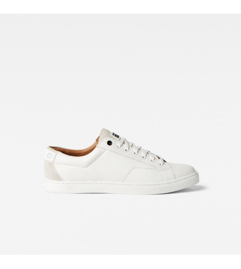 Sneakers homme blanche cuir