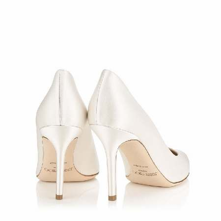 Chaussures compensées ivoire mariage