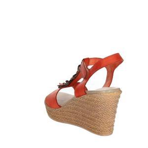 Sandale femme orange