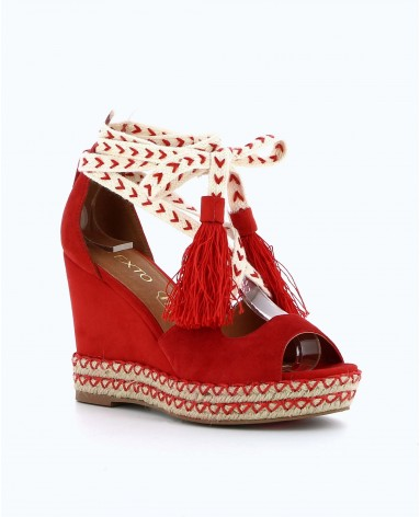 Chaussure compensée femme texto