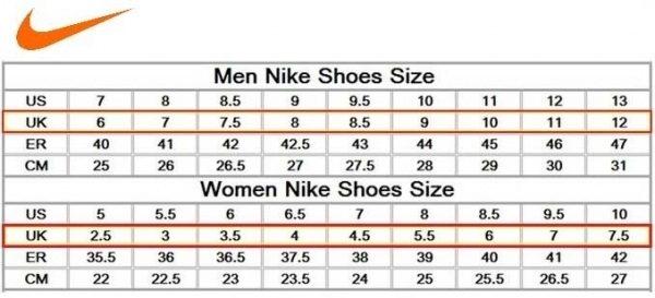 conversion chart chaussure 31