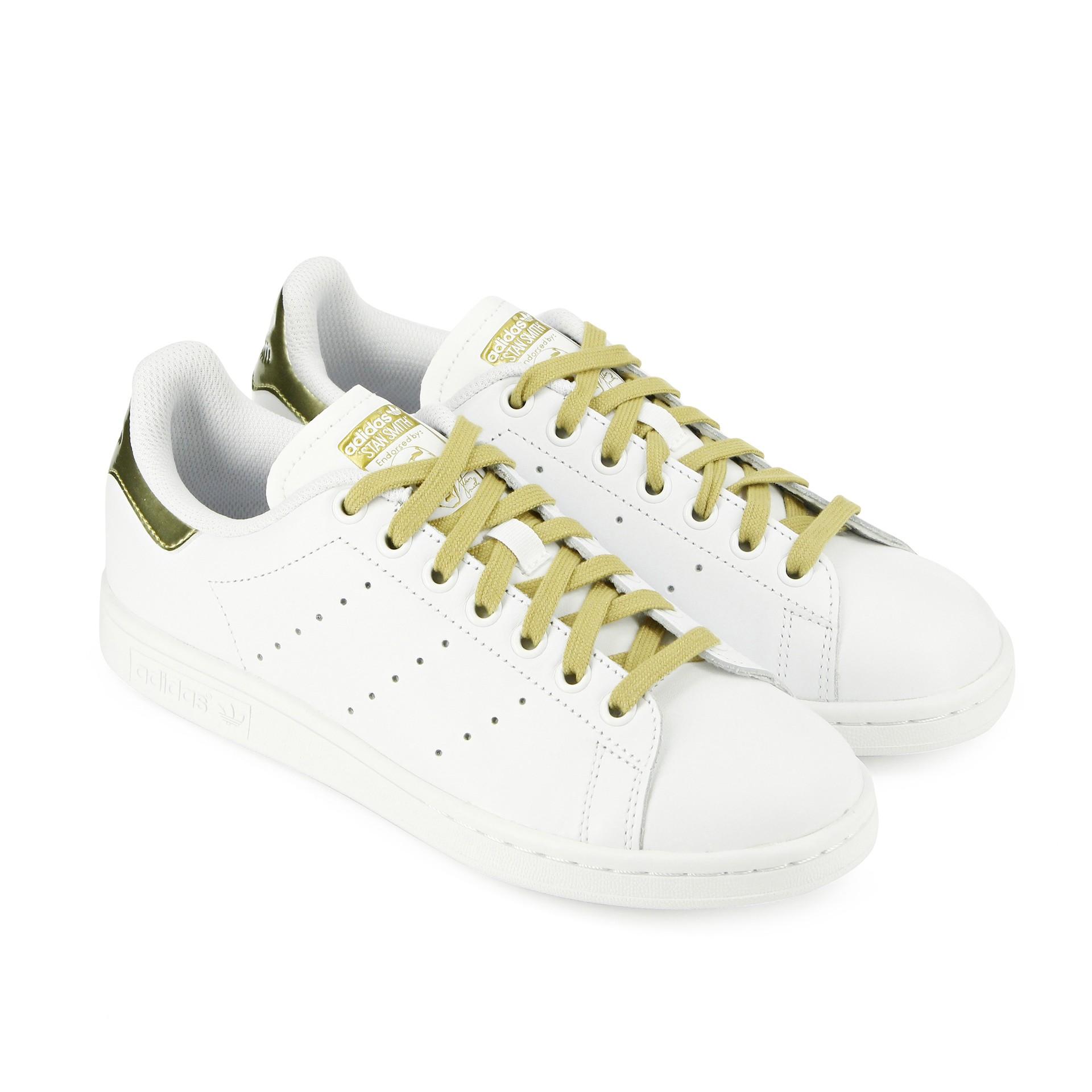 moins cher a44a1 4a419 Adidas stan smith femme blanc et bleu - Chaussure ...