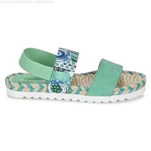 Sandale femme verte
