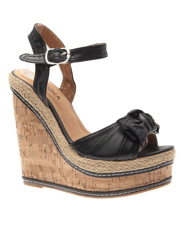 12214ac703af16 Chaussure compensée noir ete - Chaussure - lescahiersdalter
