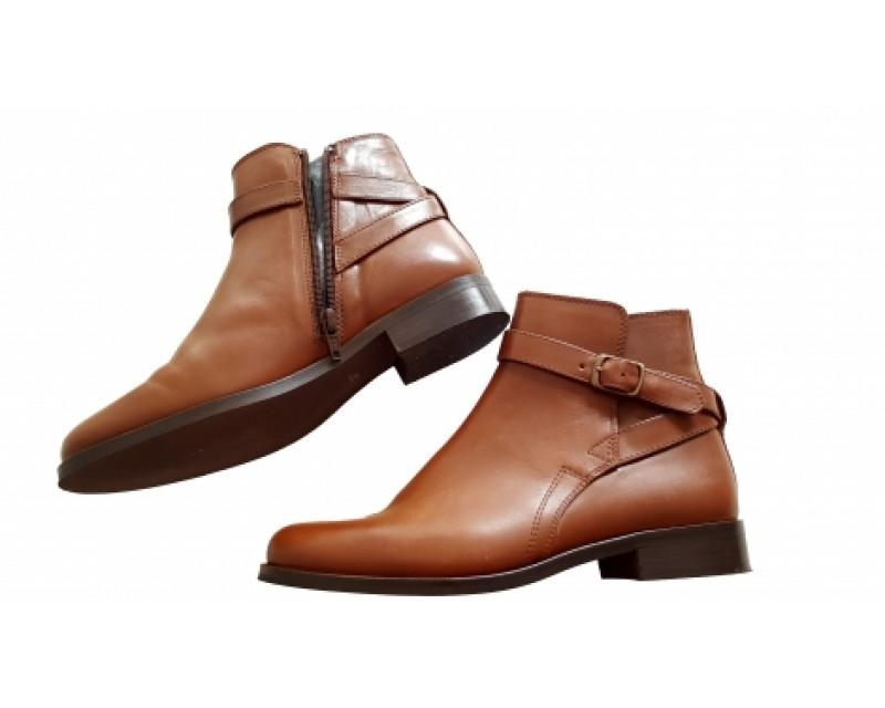 photos officielles e07a4 cfd47 Boots cuir marron femme - Chaussure - lescahiersdalter
