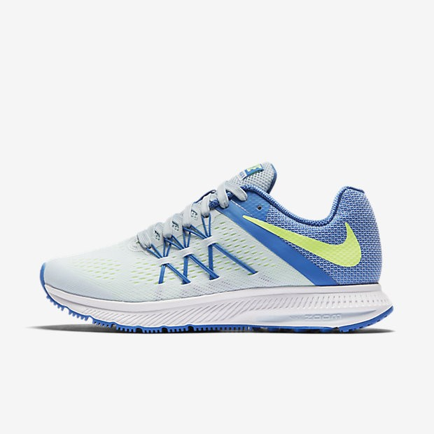 Chaussures running femme nike zoom winflo bleu nike
