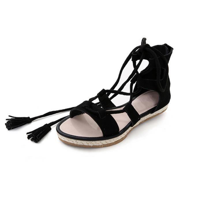 Sandale femme a lacet