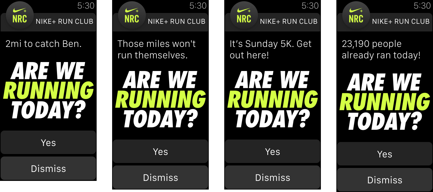 Nike running app questions
