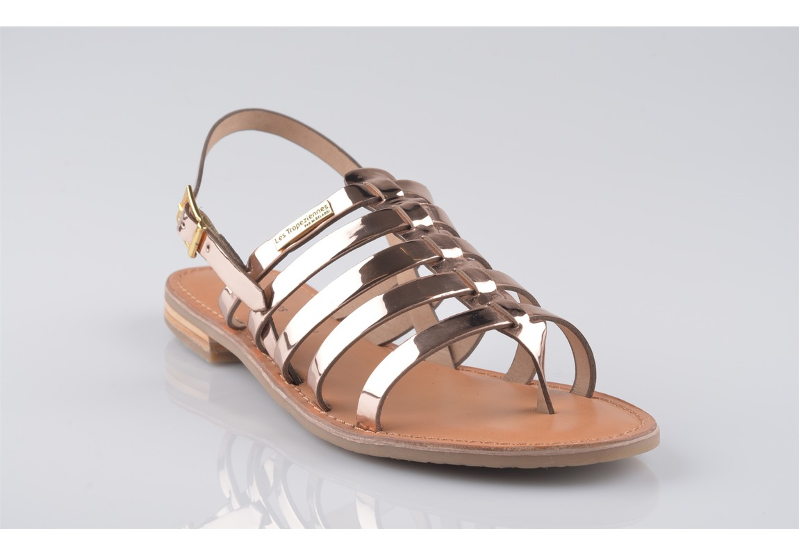 Sandale femme or rose