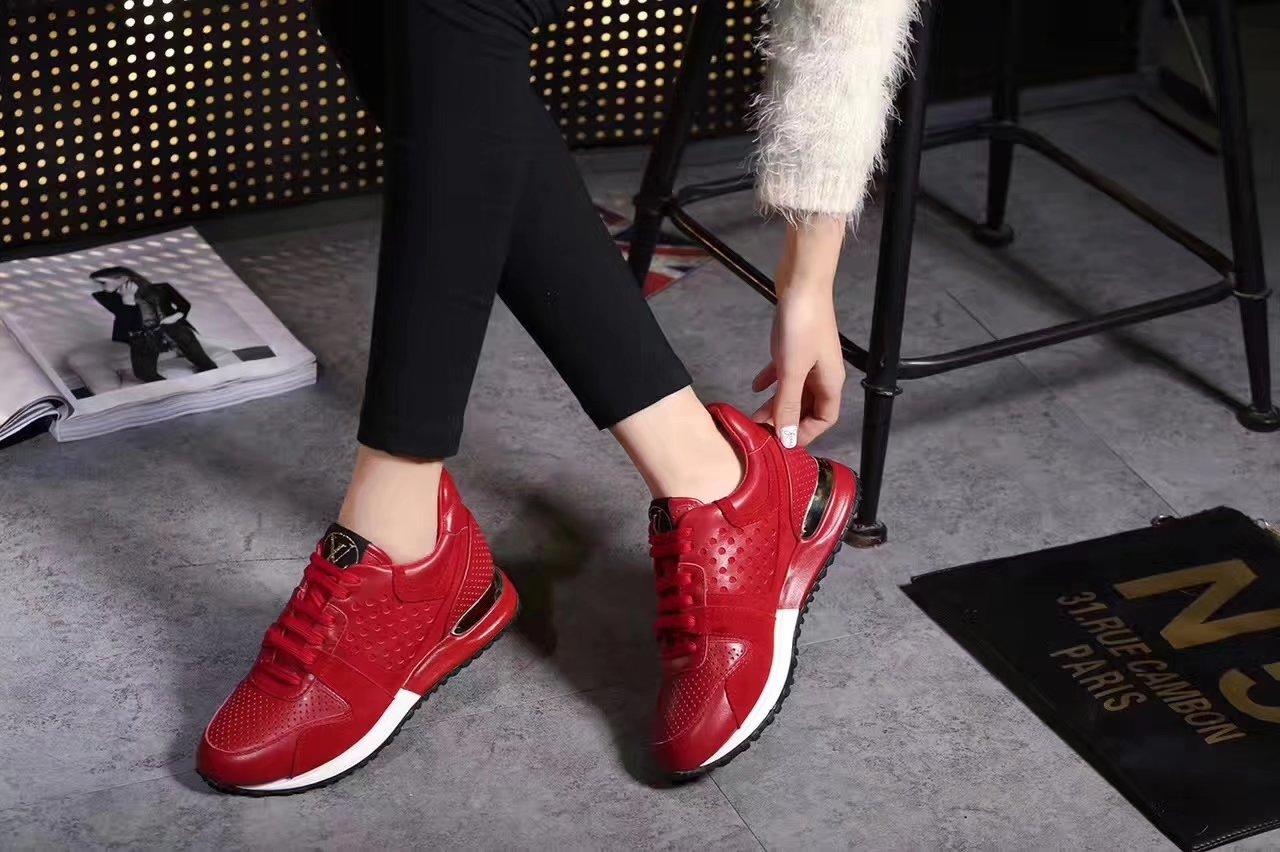 0bb0771d2a0 Sneakers louis vuitton femme rouge - Chaussure - lescahiersdalter