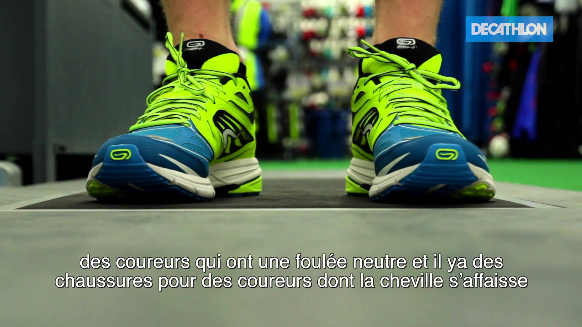 Chaussure running pour pied supinateur