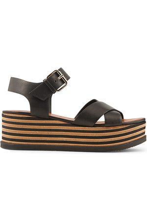 Chaussures compensées camel minelli